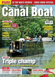 Cover of Canal Boat magazine, August 2106