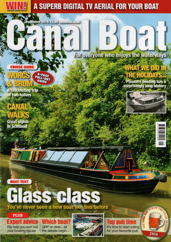 Cover of Canal Boat magazine, September 2016