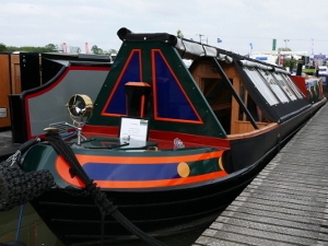 Crick Boatshow 2016 - Narrowboat Shell by Mel Davis Boatbuilders