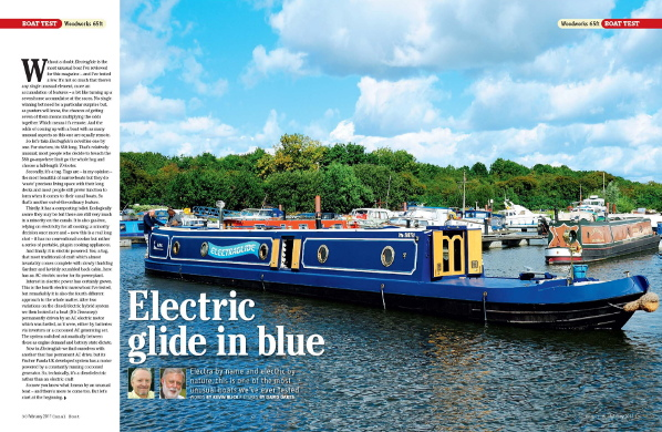 Extract from Canal Boat magazine, February 2011